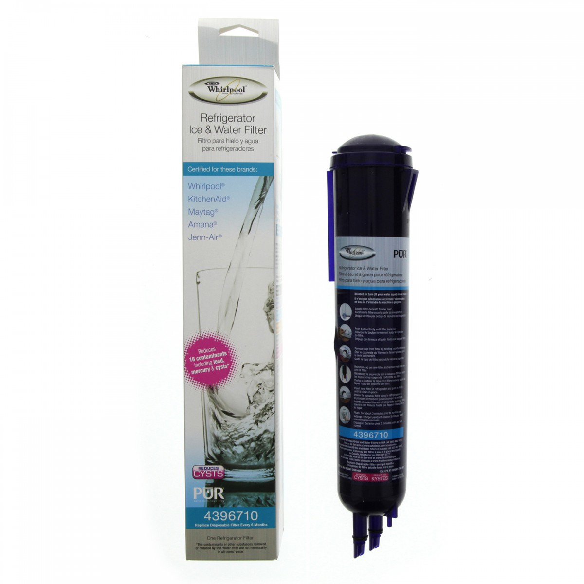 4396710 Whirlpool Refrigerator Water Filter