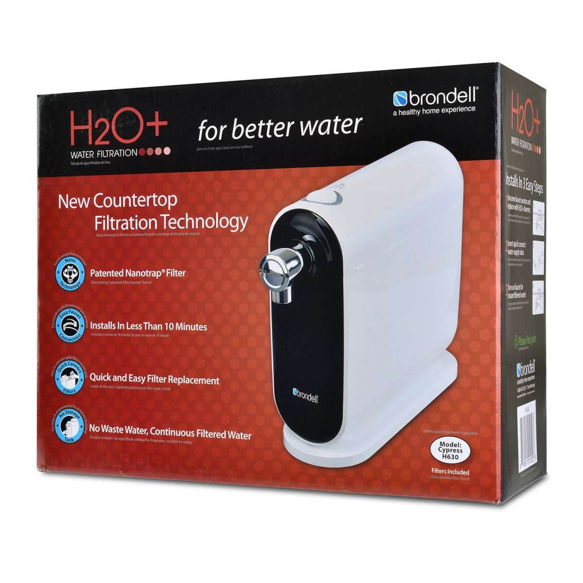 Brondell H2o Countertop Water Filter System H630