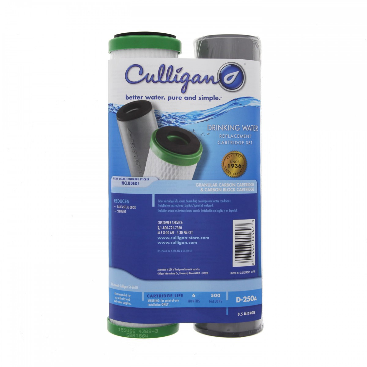 Culligan D 250a Undersink Water Filter Set
