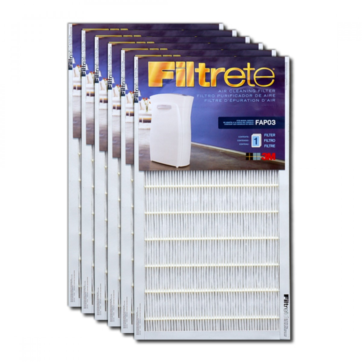 fapf036 filtrete ultra clean air purifier replacement filter 6pack - Filtrete Air Filter