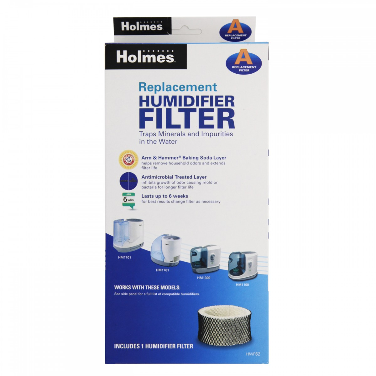 Humidifier Filter for Holmes Halls and Family Care humidifiers #2348A8