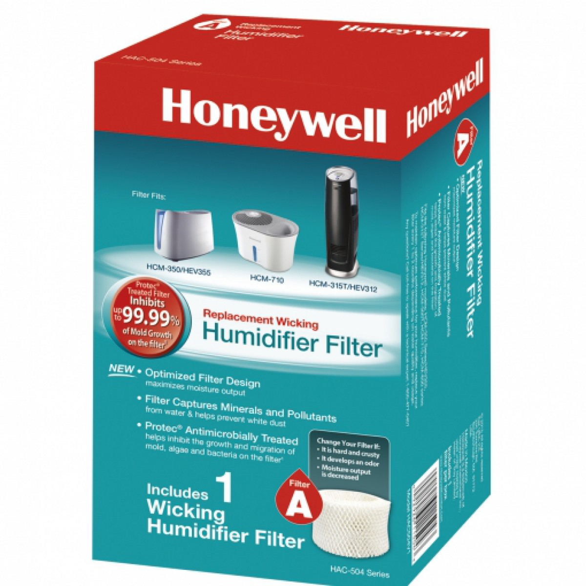 HAC 504W Honeywell Replacement Humidifier Filter for Honeywell models  #1A8D98