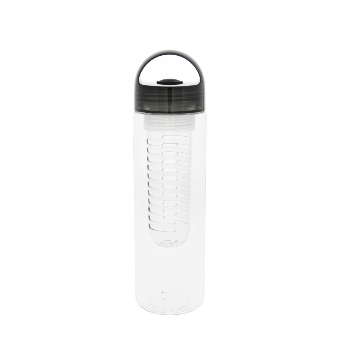 23 Ounce Clear Infusion Water Bottle With Black Top By Tier1