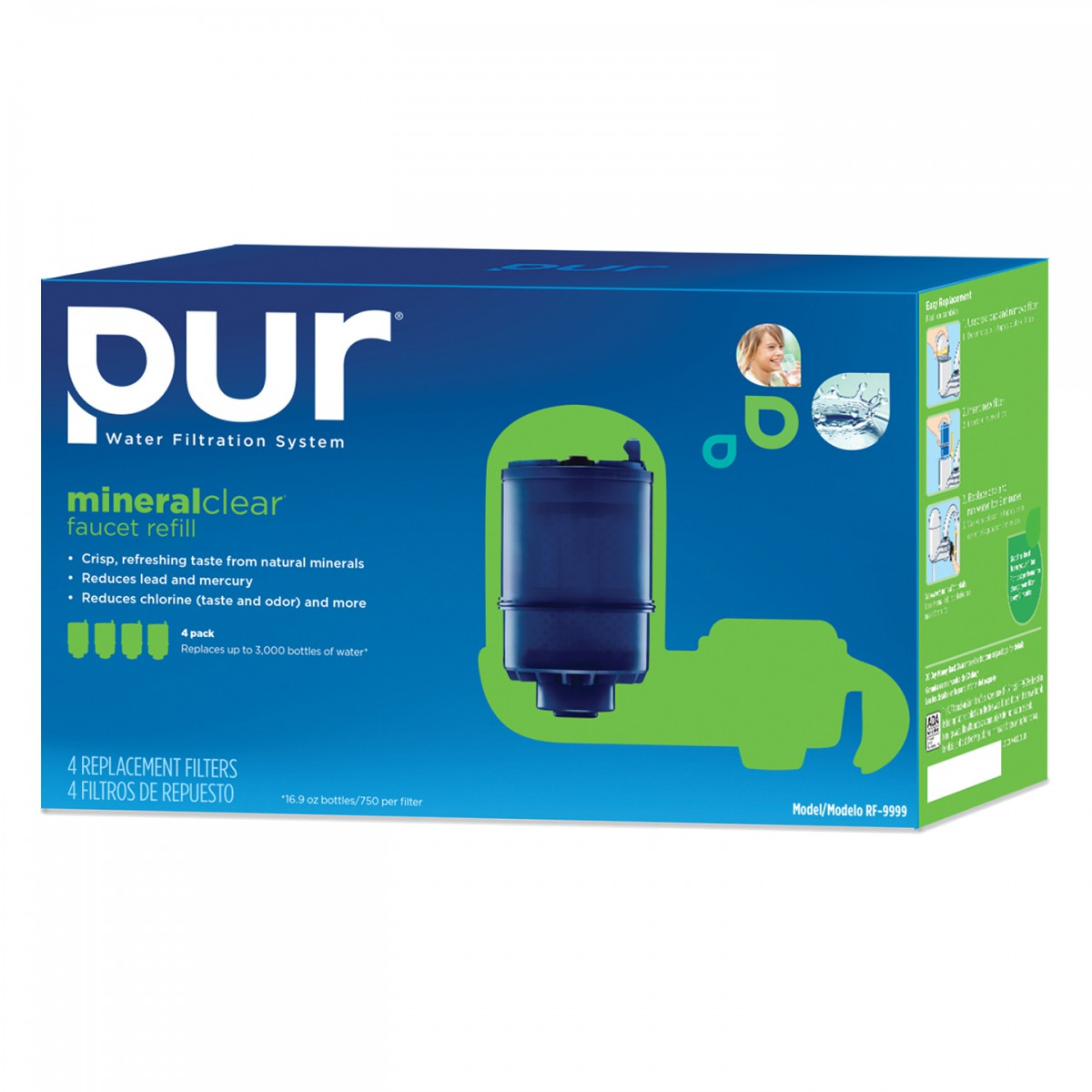 Pur Mineralclear Faucet Refill 6 Pack.PUR RF 9999 Faucet Mount Water ...