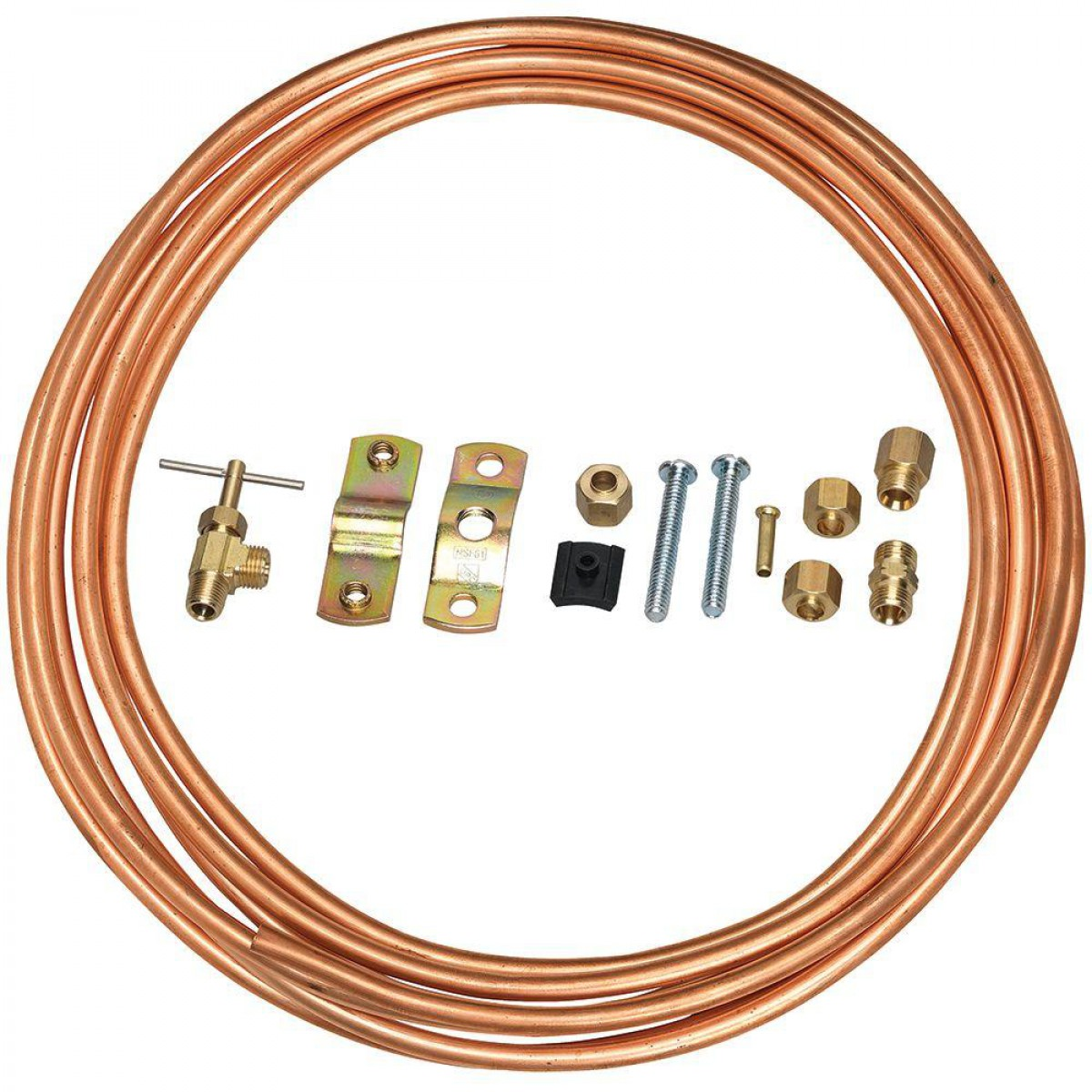 1 4 Inch 15 Foot Copper Waterline Install Supply Line Kit