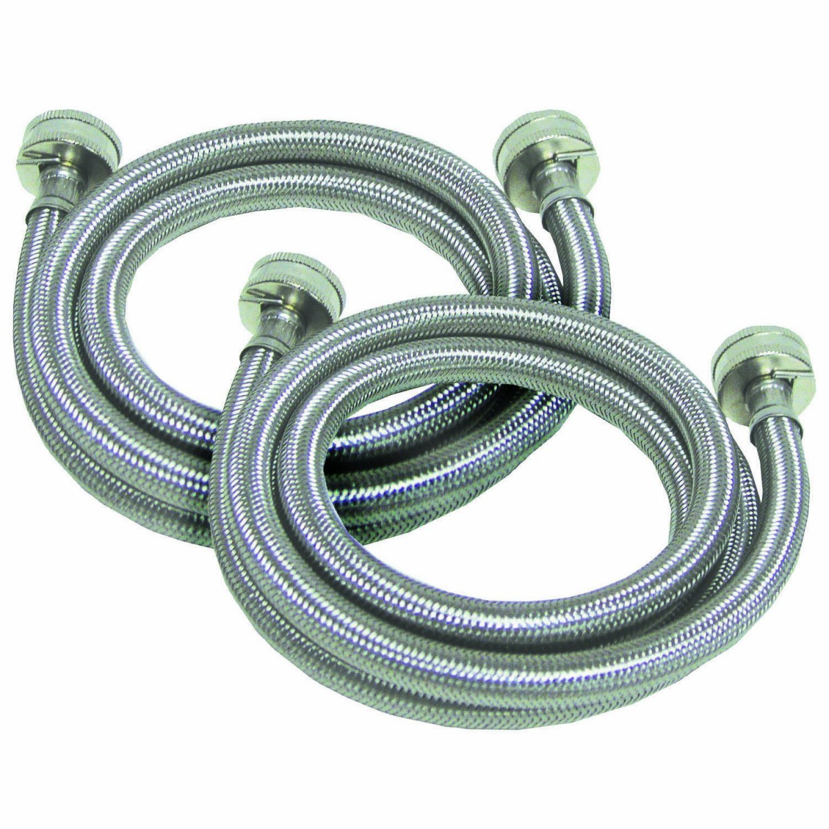 braided stainless steel 4 foot 3 4 inch washer hoses by tier1 2 pack. Black Bedroom Furniture Sets. Home Design Ideas