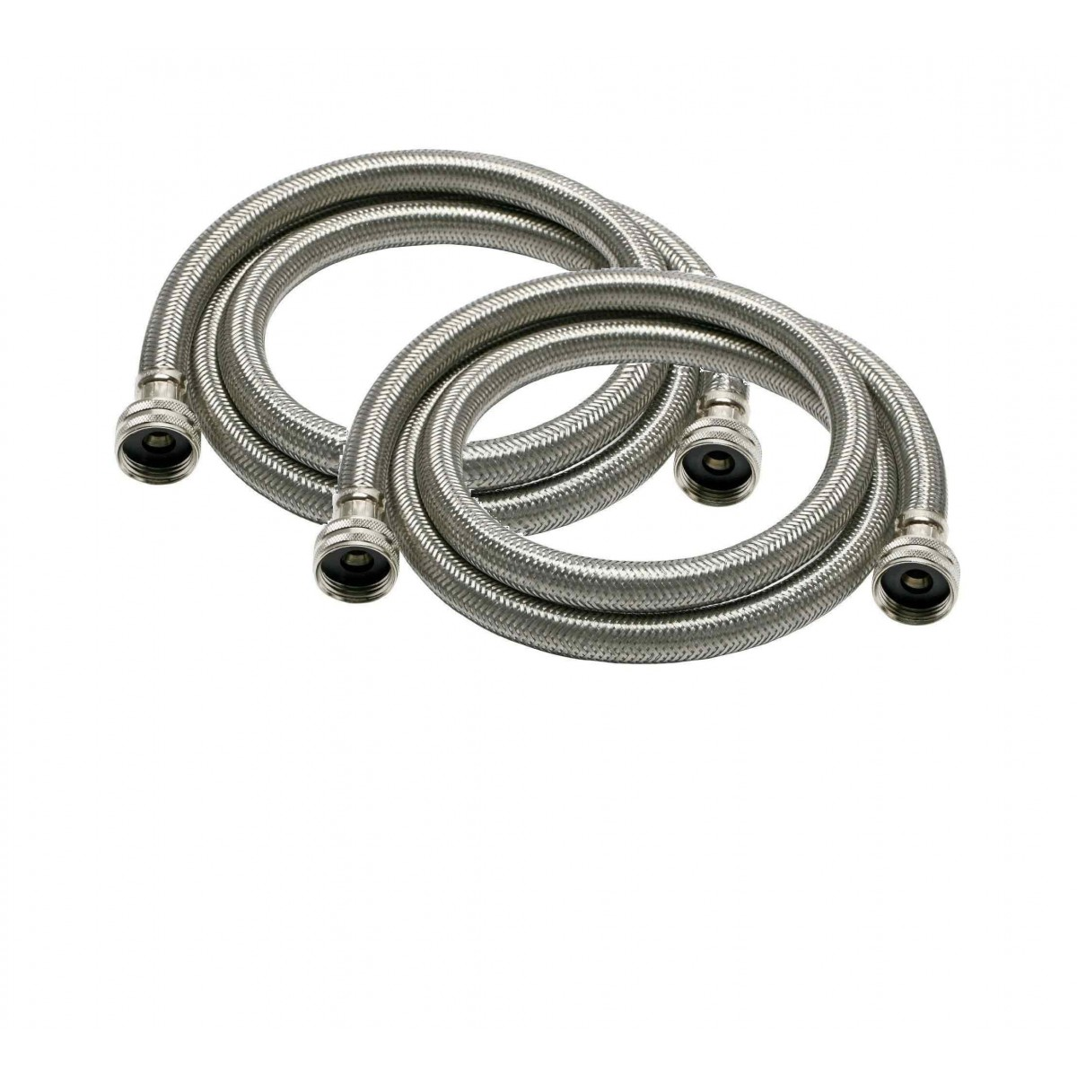 braided stainless steel 6 foot 3 4 inch fgh fht washer machine hoses by tier1 2 pack. Black Bedroom Furniture Sets. Home Design Ideas