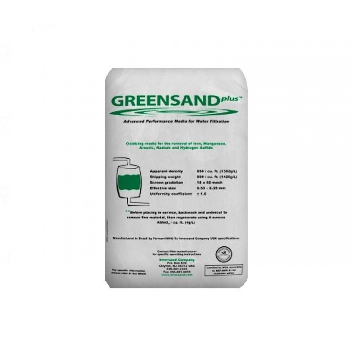 Tier1 Greensand Water Treatment Media For Iron Manganese