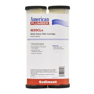 W20CLA American Plumber Whole House Sediment Filter Cartridge (2-Pack)