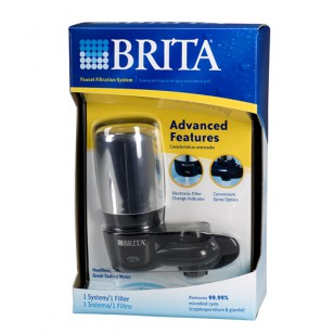 42633 Brita On-Tap Faucet Filter System - Black / Chrome