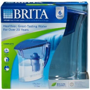 ATLANTIS-BLUE-PITCHER Brita 48-Ounce Water Pitcher