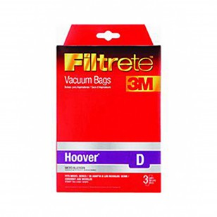 Type D Hoover Vacuum Cleaner Bag Replacements (3-Pack) 3M Filtrete 64711