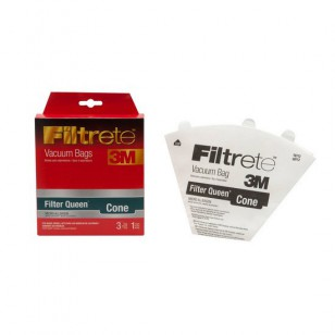 68712 Filtrete FilterQueen Cone Vacuum Bags and Filter (3 bags / 1 filter)
