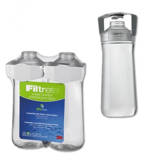 RB01-W01-2 Filtrete 16.9-Ounce Water Station Replacement Water Bottle (2-Pack)