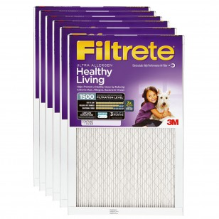 Filtrete 1500 Ultra Allergen Filter - 23.5x23.5x1 (6-Pack)