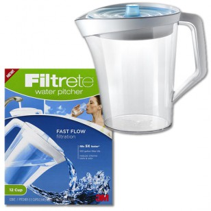 WP01-WH-12 Filtrete Fast Flow Water Filter Pitcher