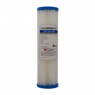 SPC-25-1001 Hydronix Pleated Sediment Water Filter
