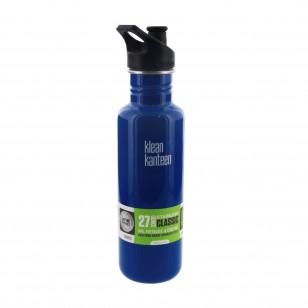 K27PPS-BP Klean Kanteen 27 oz. Stainless Steel Filtered Water Bottle with Sport-Top – Blue Planet