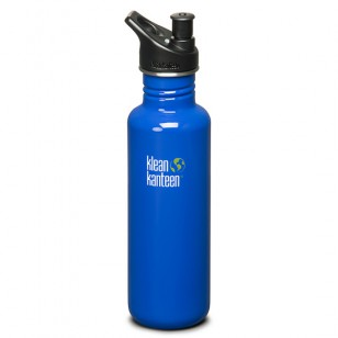 K27PPS-OB Klean Kanteen 27-Ounce Stainless Steel Water Bottle with Sport-Top - Ocean Blue