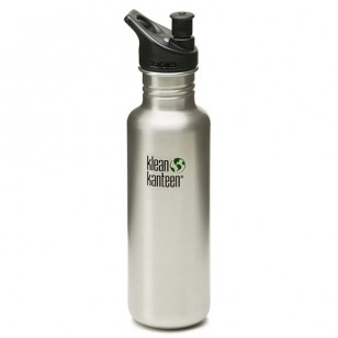 K27PPS Klean Kanteen 27-Ounce Stainless Steel Water Bottle with Sport-Top