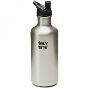 K40PPS Klean Kanteen 40-Ounce Stainless Steel Water Bottle with Sport-Top
