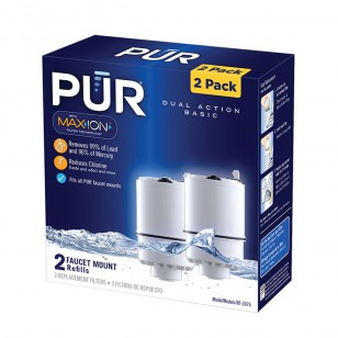 RF-3375-2-PACK PUR 2-Stage Vertical Faucet Filter Replacement Cartridge - White (2-Pack)