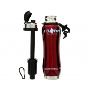 1-04101-OT-R-F2P Seychelle 27oz Stainless Steel Flip Top Bottle - Red - 1
