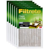 Filtrete 600 Dust Reduction Clean Living Filter - 20x25x1 (6-Pack)