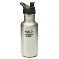 K18PPS Klean Kanteen 18-Ounce Stainless Steel Water Bottle with Sport-Top