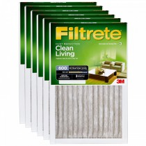 Filtrete 600 Dust Reduction Clean Living Filter - 10x20x1 (6-Pack)