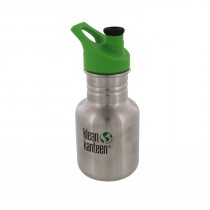 K12PPS Klean Kanteen 12-Ounce Stainless Steel Water Bottle with Sport-Top